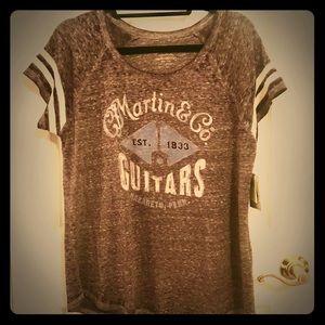 Lucky Brand Martin and Co. Guitar T-shirt